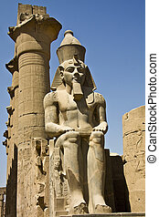 Luxor temple - Details of Egyptian art An example of the art...