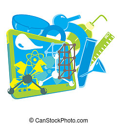 Science Background - An abstract illustration on a Science...