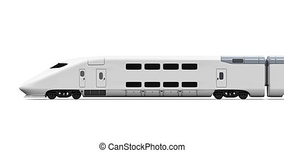 Bullet Train Isolated - Bullet Train isolated on white...