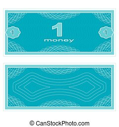 Play money One - Game money Set on a white background...