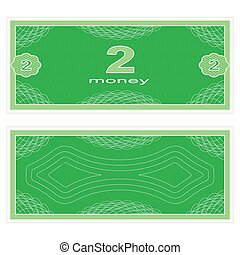 Play money. Two - Game money. Set on a white background....