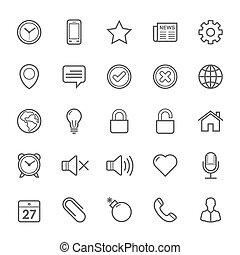Outline stroke General icons - Set of Outline stroke General...