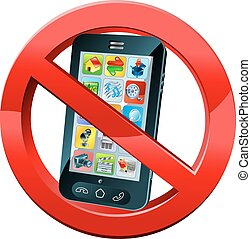 No Phone sign - A no mobile phone or please turn off phones...