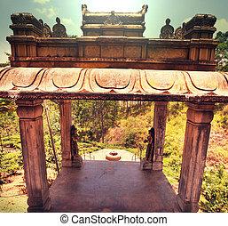 templo, en, Sri, Lanka,