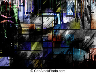 City Industrial Abstract