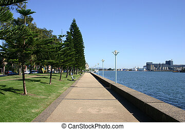 A pathway next to Newcastle Harbour - Australia