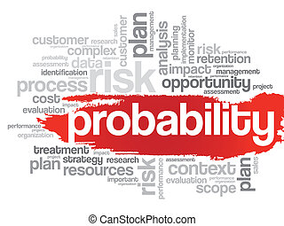 Probability word cloud - Probability word cloud, business...