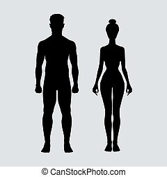 man and woman icon body vector figure sport  art