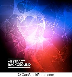 Abstract Low poly, Molecule And Communication Background....