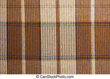 Checked plaid - Close-up of a thick checked material for...