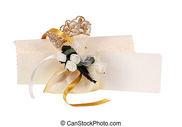 Favor with tulle and satin. - Favor with tulle and satin on...
