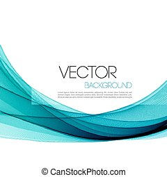 Abstract smoky waves background. Template brochure design -...