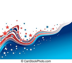 Independence Day patriotic background - Vector illustration...