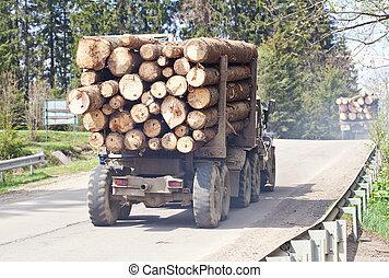 Timber transport cerry wooden logs - Timber transport cerry...