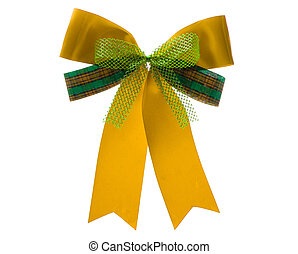 christmas ribbon - yellow christmas ribbon
