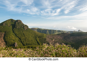 Flores - Pico dos Sete Pes in the center of the island of...