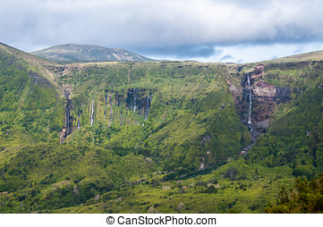 Flores - Waterfall of Ribeira Grande in Fajazinha, Flores...