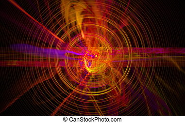 Perturbation of the atomic nucleus and elementary particles...
