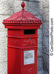 Red Royal Mail post box