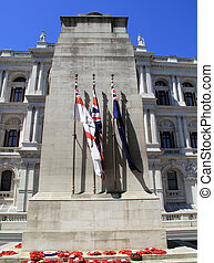 The Cenotaph, the UK s war memorial stands in Londons...
