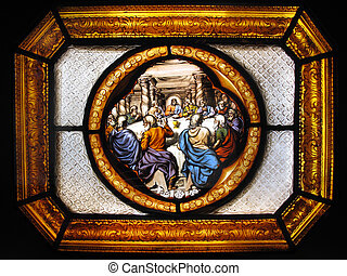 Stained Glass The Last Supper - The Last Supper of Christ...