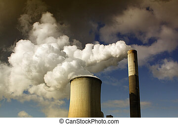 brown coal power station - brown coal open mining