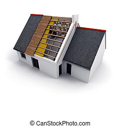 Home improvement - 3D rendering of an architecture model,...