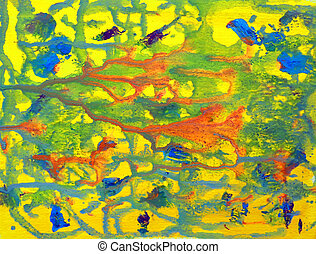 Art abstract colorful background painted on paper