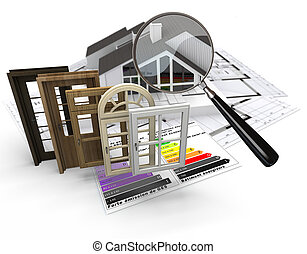 Energy efficient construction - Home construction concept...