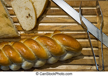 Sort of Bread with Long Knife