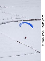 Paragliden in winter