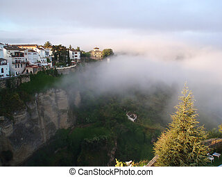 Ronda - Mighty Spanish town of Ronda built on the top of the...