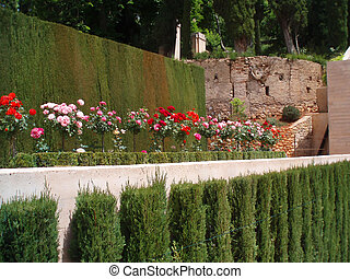 Alhambra - Paradise on the Earth - palace of Alhambra with...