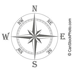 ancient wind rose vector illustration isolated on white...
