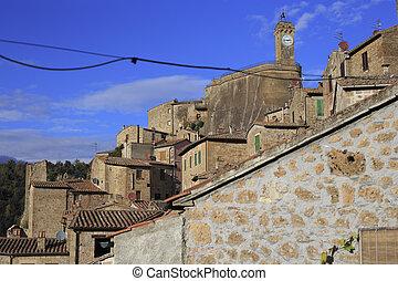 Pitigliano, hilltop town