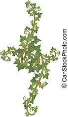 ivy branch decor - decor of interwoven branches of ivy
