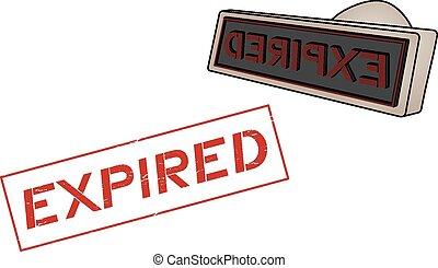 Expired symbol - Creative design of Expired symbol