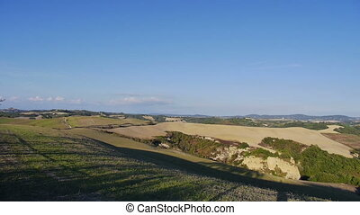 Landscape of Crete Senesi - Pan of the landscape of the...