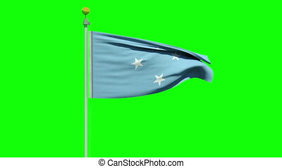 Waving flag of Micronesia - Flag of the Federated States of...
