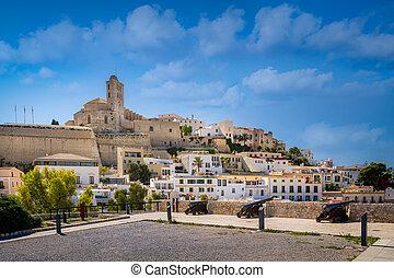 Dalt Vila fortress - Dalt Vila medieval fortress. Ibiza...