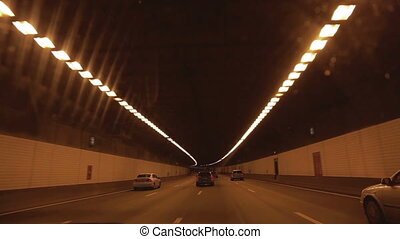 urban highway road tunnel drive