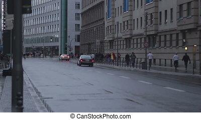 Footbal fans on street