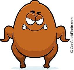 Angry Cartoon Turkey