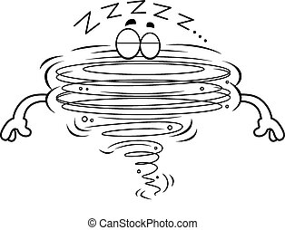Cartoon Tornado Sleeping