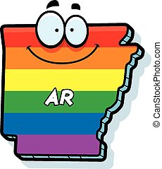 Cartoon Arkansas Gay Marriage - A cartoon illustration of...