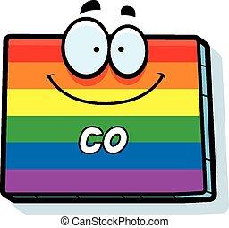 Cartoon Colorado Gay Marriage - A cartoon illustration of...