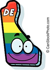Cartoon Delaware Gay Marriage - A cartoon illustration of...