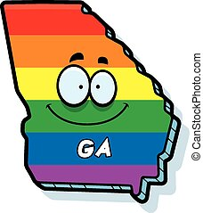 Cartoon Georgia Gay Marriage - A cartoon illustration of the...
