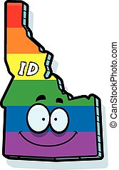 Cartoon Idaho Gay Marriage - A cartoon illustration of the...