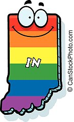 Cartoon Indiana Gay Marriage - A cartoon illustration of the...